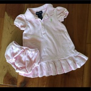 Ralph Lauren pink dress size 12 mo